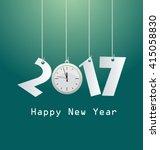 happy new  year 2017 | Shutterstock .eps vector #415058830