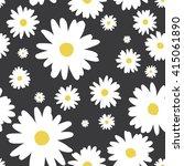 seamless white flower on black... | Shutterstock .eps vector #415061890