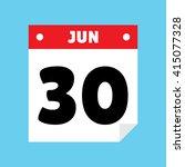 calendar icon flat jun 30