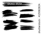 vector set of grunge brush... | Shutterstock .eps vector #415082824