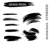 vector set of grunge brush... | Shutterstock .eps vector #415082830
