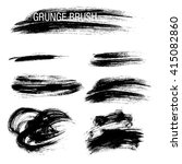 vector set of grunge brush... | Shutterstock .eps vector #415082860