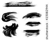 vector set of grunge brush... | Shutterstock .eps vector #415082944