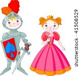 Little Boy As A Knight And Girl ...