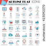 vector project business finance ... | Shutterstock .eps vector #415092370