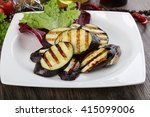 grilled eggplant with olive oil ... | Shutterstock . vector #415099006