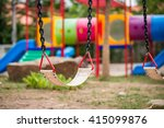 playground and swings in... | Shutterstock . vector #415099876
