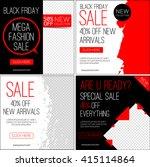 sale instagram banners. black... | Shutterstock .eps vector #415114864