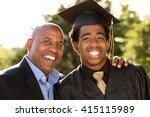 father and son hugging  at his... | Shutterstock . vector #415115989