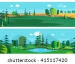 vector flat illustrations  ... | Shutterstock .eps vector #415117420