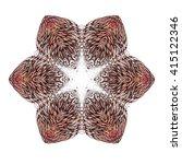 ornamental round floral pattern ... | Shutterstock .eps vector #415122346