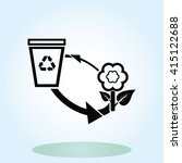 throw away the trash icon ... | Shutterstock .eps vector #415122688