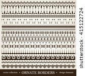 vector set of vintage... | Shutterstock .eps vector #415122724