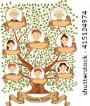 family tree with portraits of... | Shutterstock . vector #415124974