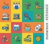 icon set hobby vector | Shutterstock .eps vector #415131613