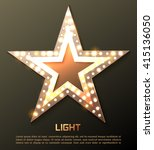 star retro light banner. vector ... | Shutterstock .eps vector #415136050