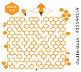 bee and honeycomb game for... | Shutterstock .eps vector #415144159