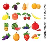 fruit set | Shutterstock . vector #415150093