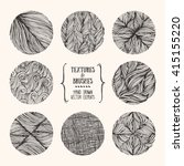 hand drawn textures and brushes.... | Shutterstock .eps vector #415155220