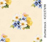 seamless pattern blue white... | Shutterstock .eps vector #415157698