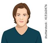 facial expression  smirking | Shutterstock .eps vector #415163476