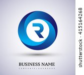 r letter logo in the blue...