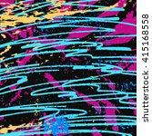 Colored Lines Graffiti Pattern...