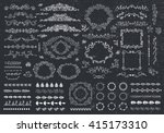 vector floral decor set of hand ... | Shutterstock .eps vector #415173310