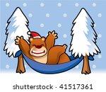christmas bear relaxing 2 | Shutterstock .eps vector #41517361
