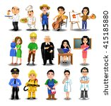 professions collection | Shutterstock .eps vector #415185880