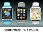 smart watches with icons ...
