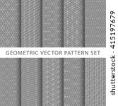 geometric gray vector pattern... | Shutterstock .eps vector #415197679