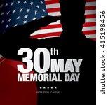 Memorial Day. Vector...