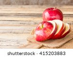 close up of a sliced red apple... | Shutterstock . vector #415203883
