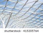 steel glass roof wall... | Shutterstock . vector #415205764
