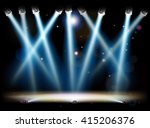 a theatre or theater stage and...   Shutterstock .eps vector #415206376