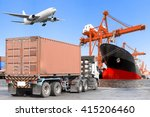 container truck commercial... | Shutterstock . vector #415206460