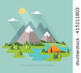 summer  landscape. morning in... | Shutterstock .eps vector #415211803