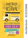 food truck festival menu food... | Shutterstock .eps vector #415223686