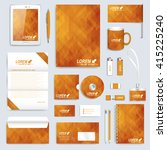 golden set layout of vector... | Shutterstock .eps vector #415225240