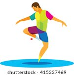 young player in freestyle... | Shutterstock .eps vector #415227469