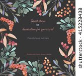 background  template postcard... | Shutterstock . vector #415228438