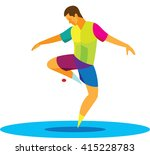 young player in freestyle... | Shutterstock . vector #415228783