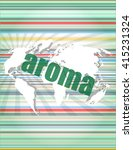 aroma word on digital screen ... | Shutterstock .eps vector #415231324