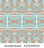 tribal mexican style ethnic... | Shutterstock . vector #415233910