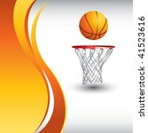 basketball hoop and ball by... | Shutterstock .eps vector #41523616