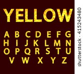 abstract yellow alphabet ... | Shutterstock .eps vector #415243480