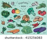vegetable menu  garlic ... | Shutterstock .eps vector #415256083