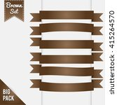collection of ribbons in... | Shutterstock .eps vector #415264570