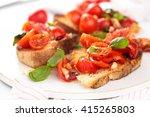 delicious italian bruschetta... | Shutterstock . vector #415265803